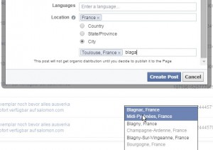 GeoTargeting a City on Facebook is easy enough... but an area...